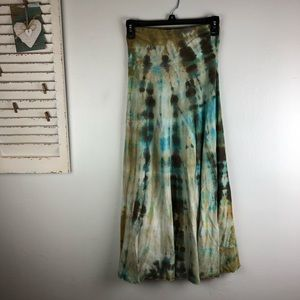 Soft Surroundings Tie Dye Maxi Skirt Size Petite